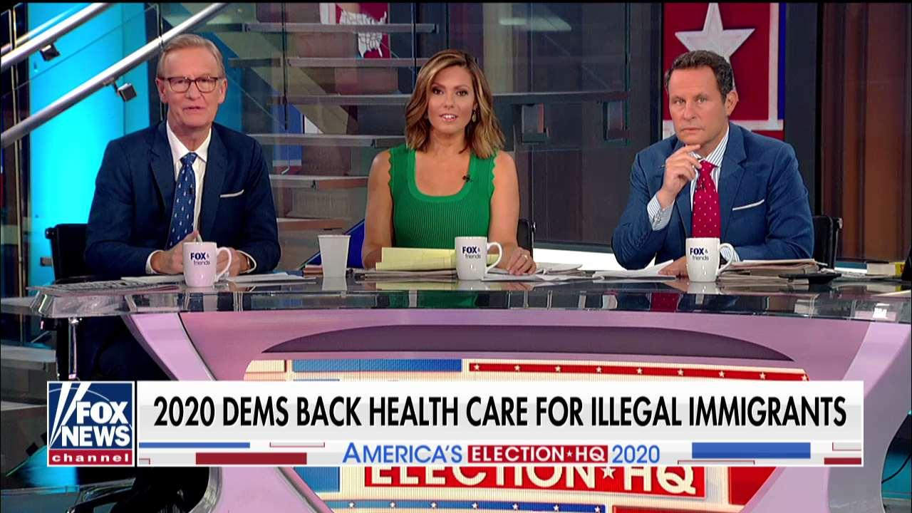 'Fox & Friends' on Dems endorsing health care for illegals, Harris taking on Biden.
