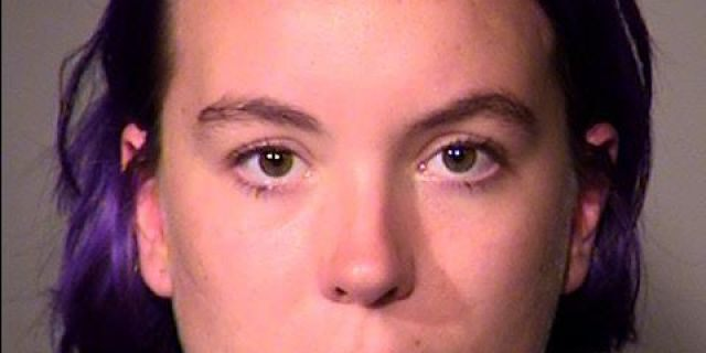 Maria C. Dehart, 23, was arrested during an Antifa protest and charged with disorderly conduct and harassment Saturday.