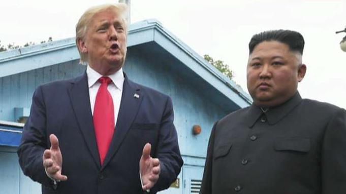 President Trump crosses border into North Korea by invitation of Kim Jong Un
