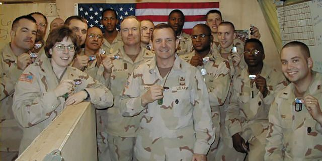 US (Ret.) Col. David Dodd's 86th battalion in Afghanistan with Shields of Strength following September 11, 2001.