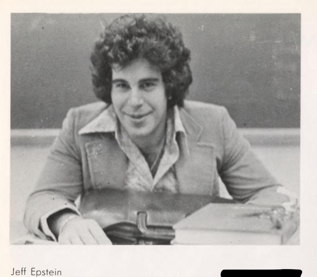 Jeffrey Epstein at The Dalton School during the 1970s.