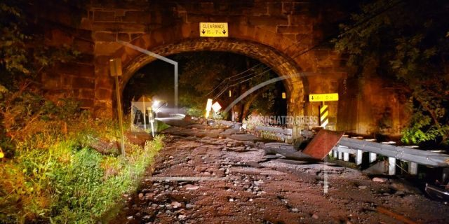 Flooding claimed the lives of a pregnant woman and her son whose car was swept away near the Colebrook Railroad trestle crossing Thursday, July 11, 2019 in Boyertown, Pa.