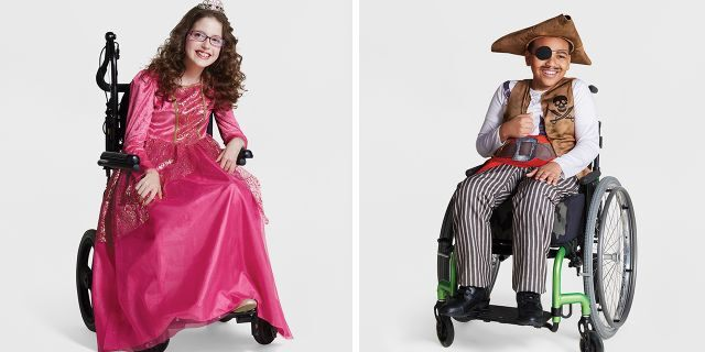 """Target has produced two new wheelchair-inclusive Halloween <a data-cke-saved-href=""""https://www.foxnews.com/category/style-and-beauty"""" href=""""https://www.foxnews.com/category/style-and-beauty"""">costumes</a> for kids, selling both an outfit for the wearer and décor for wheelchairs."""