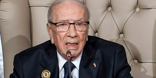 Tunisian President Beji Caid Essebsi, pictured here during the opening session of the 30th Arab Summit in Tunisia earlier this year, died at 92 on Thursday.