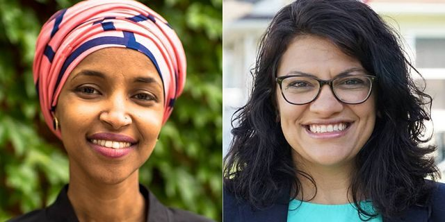 U.S. Reps. Ilhan Omar, D-Minn., left, and Rashida Tlaib, D-Mich., are the first two Muslim women elected to Congress.