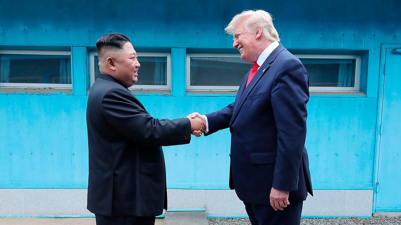 Trump becomes first sitting US president to enter North Korea