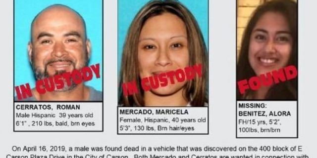 A California mother suspected of murder and her 16-year-old daughter were detained in Mexico on Tuesday and then deported to the U.S., authorities said.