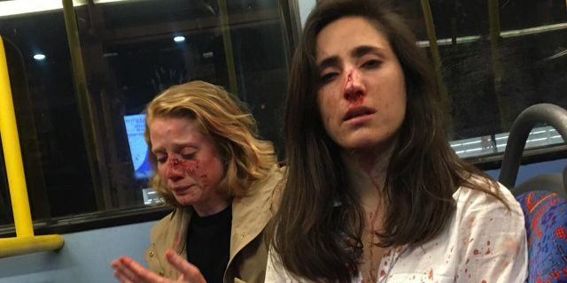 Melania Geymonat,28, (right) originally from Uruguay, was riding the bus with her girlfriend Chris (left) after an evening out in West Hampstead, London, in the early hours of May 30.