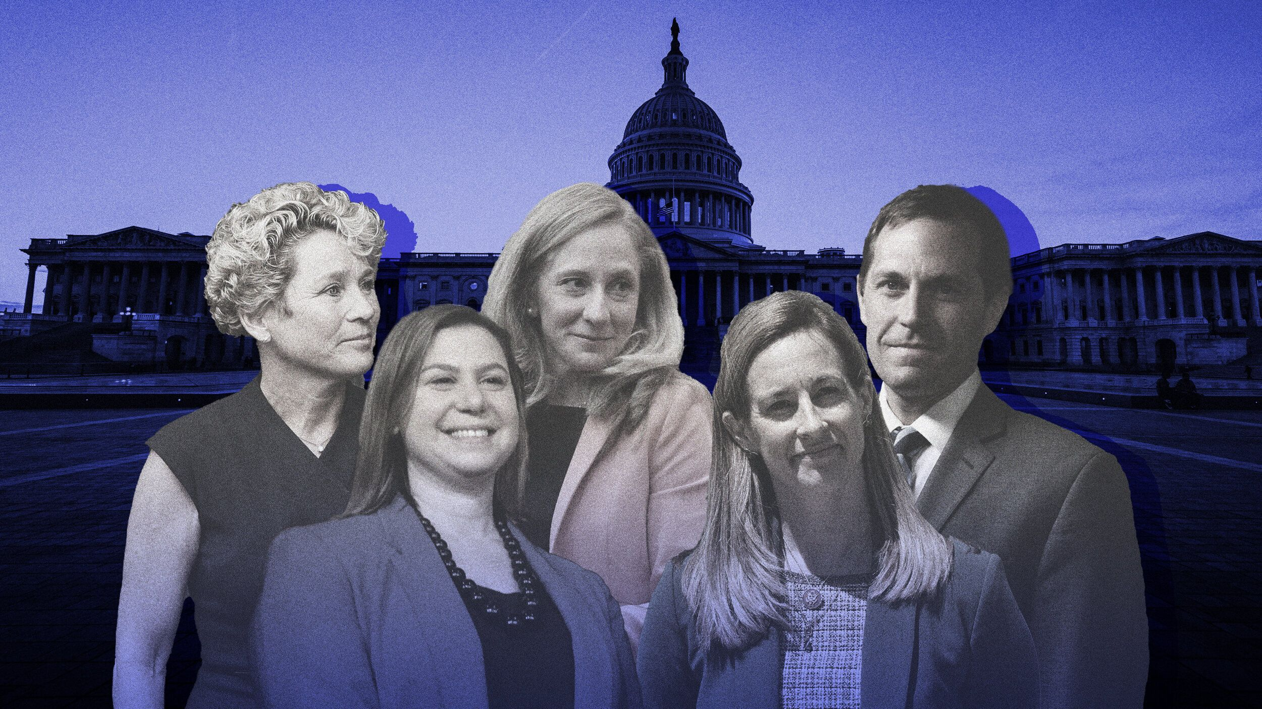 Left to right: Reps. Chrissy Houlahan (D-Pa.), Elissa Slotkin (D-Mich.), Abigail Spanberger (D-Va.), Mikie Sherrill (D-N.J.)
