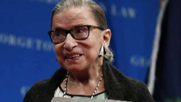 Supreme Court Justice Ruth Bader Ginsburg, making her first public appearance since undergoing cancer surgery