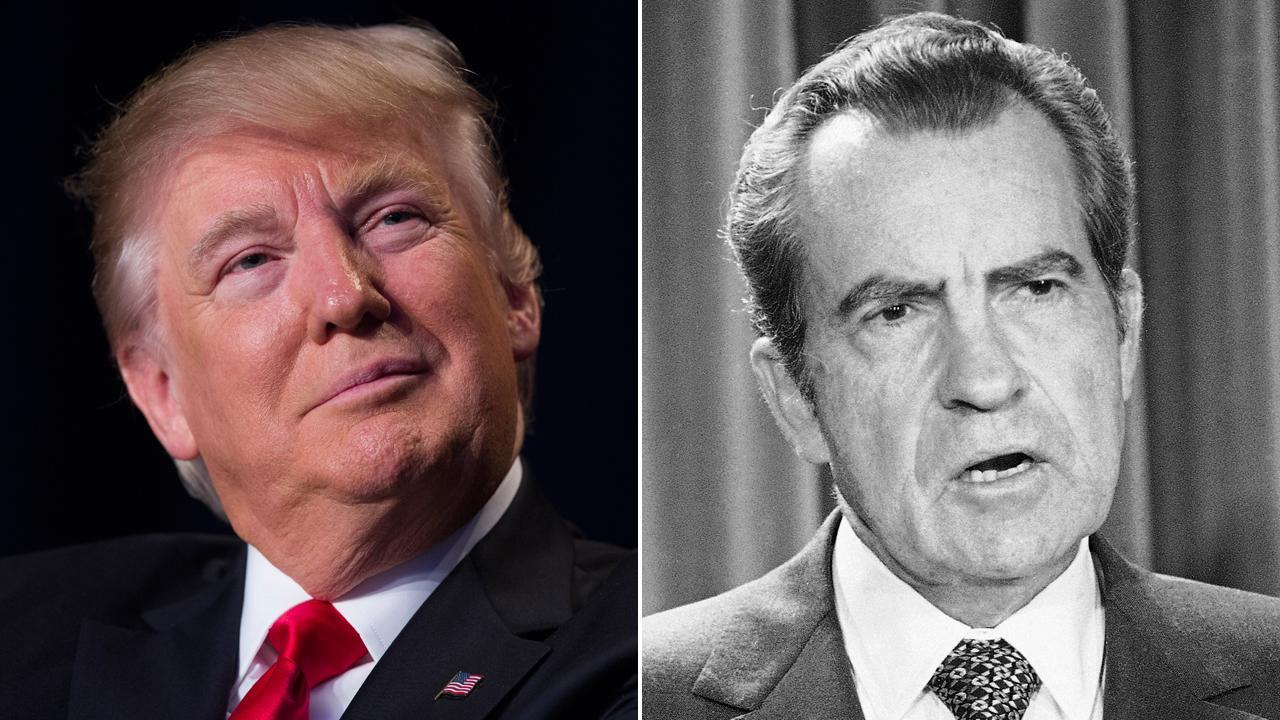 Press ties Trump to Nixon