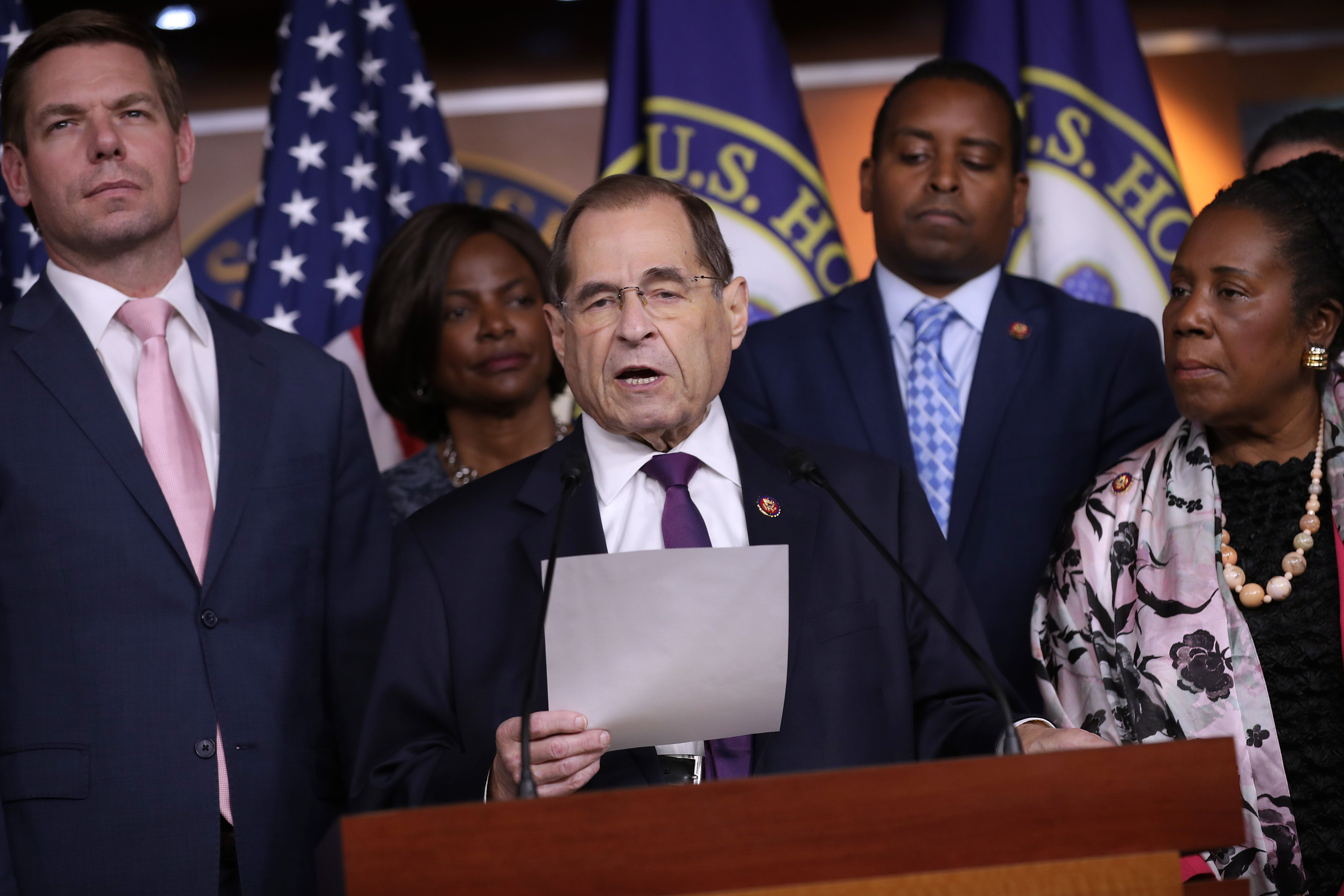 House Judiciary Committee Chair Jerrold Nadler (D-N.Y.) and other committee members explained how the committee was now invok