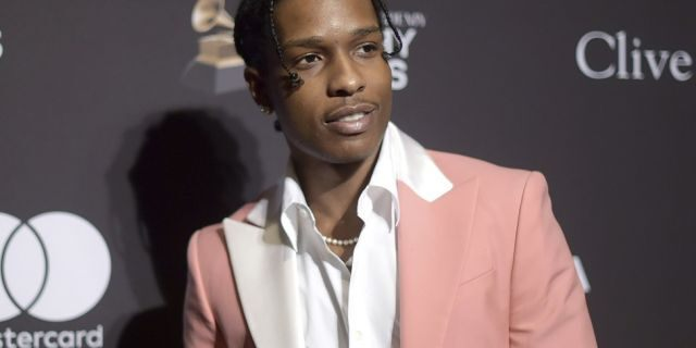 A$AP Rocky is seen in Beverly Hills, Calif., Feb. 9, 2019. (Associated Press)