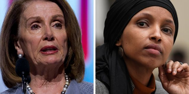 House Speaker Nancy Pelosi, left, is expected to address the Ghanaian Parliament on Wednesday. Somali-born U.S. Rep. Ilhan Omar, D-Minn., is among the members of Congress joining Pelosi on the overseas visit.