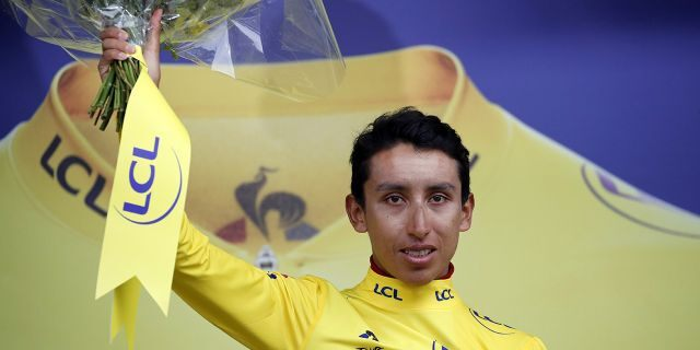 Egan Bernal has become the first Colombian to win the Tour de France as the three-week race ended with the 21st and final stage on the Champs-Elysees. (AP Photo/Christophe Ena)