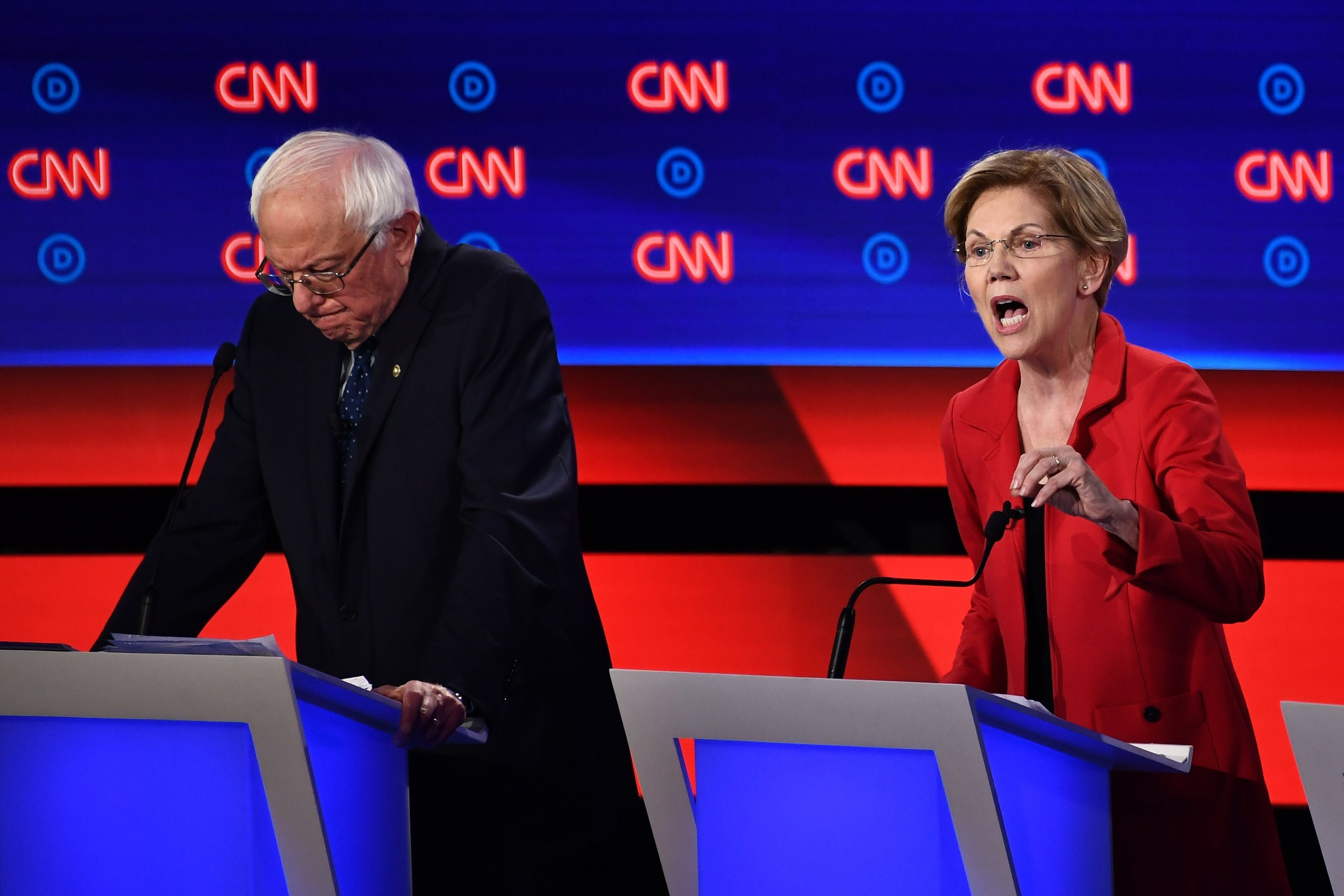 Sens. Bernie Sanders and Elizabeth Warren appeared to stick to their script of civility with each other.