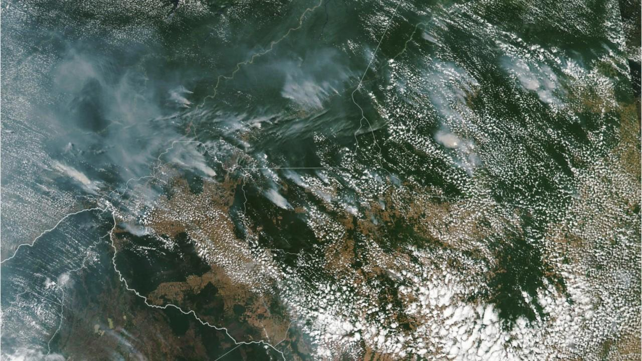 Amazon wildfires can be seen from space