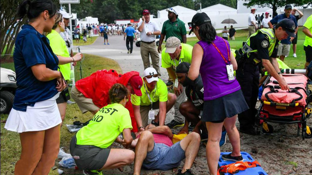 Multiple people struck by lightning at PGA tour championship in Atlanta
