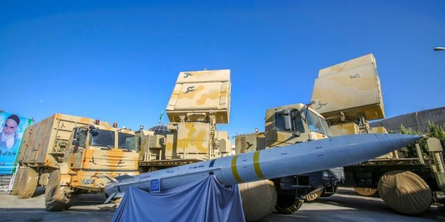 This photo released by the official website of the Iranian Defense Ministry shows Iran-made Bavar-373 air-defense missile system. (Iranian Defense Ministry via AP)
