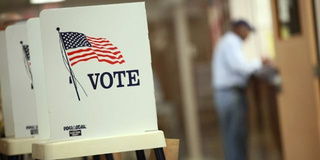 Voting booths are set up for early voting at the Black Hawk County Courthouse in Waterloo, Iowa, Sept. 27, 2012. (Getty Images)