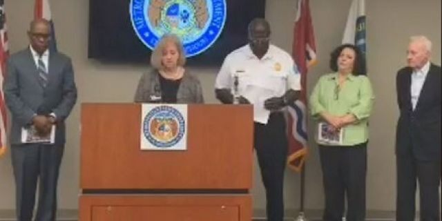 St. Louis Mayor Lyda Krewson announced $25,000 rewards for information leading to arrests in each of four child shooting deaths.
