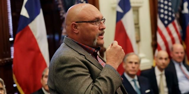 Frank Pomeroy, seen here in 2018, announced he'll run as a Republican for state senator in Texas in 2020.