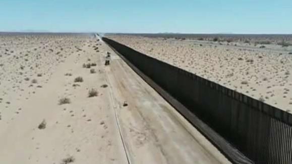 Border Patrol releases drone footage showing miles of 'new wall system' being built
