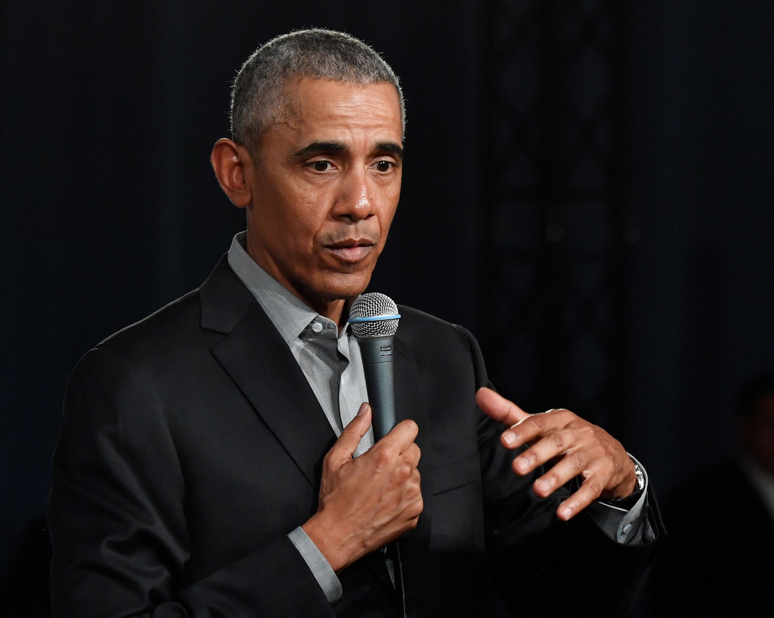 Former U.S. President Barack Obama addresses a townhall talk to discuss, among others, the future of Europe with young people