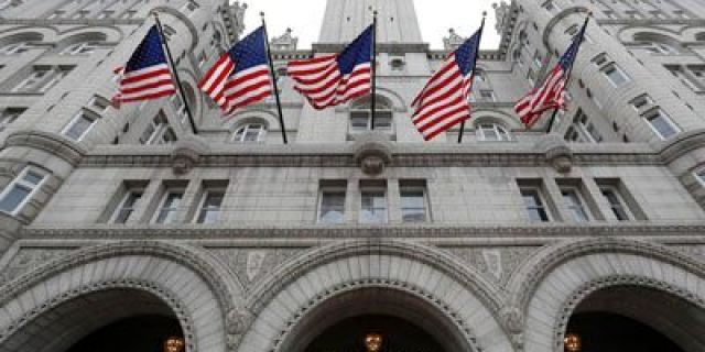 The entrance to the Trump International Hotel in Washington.