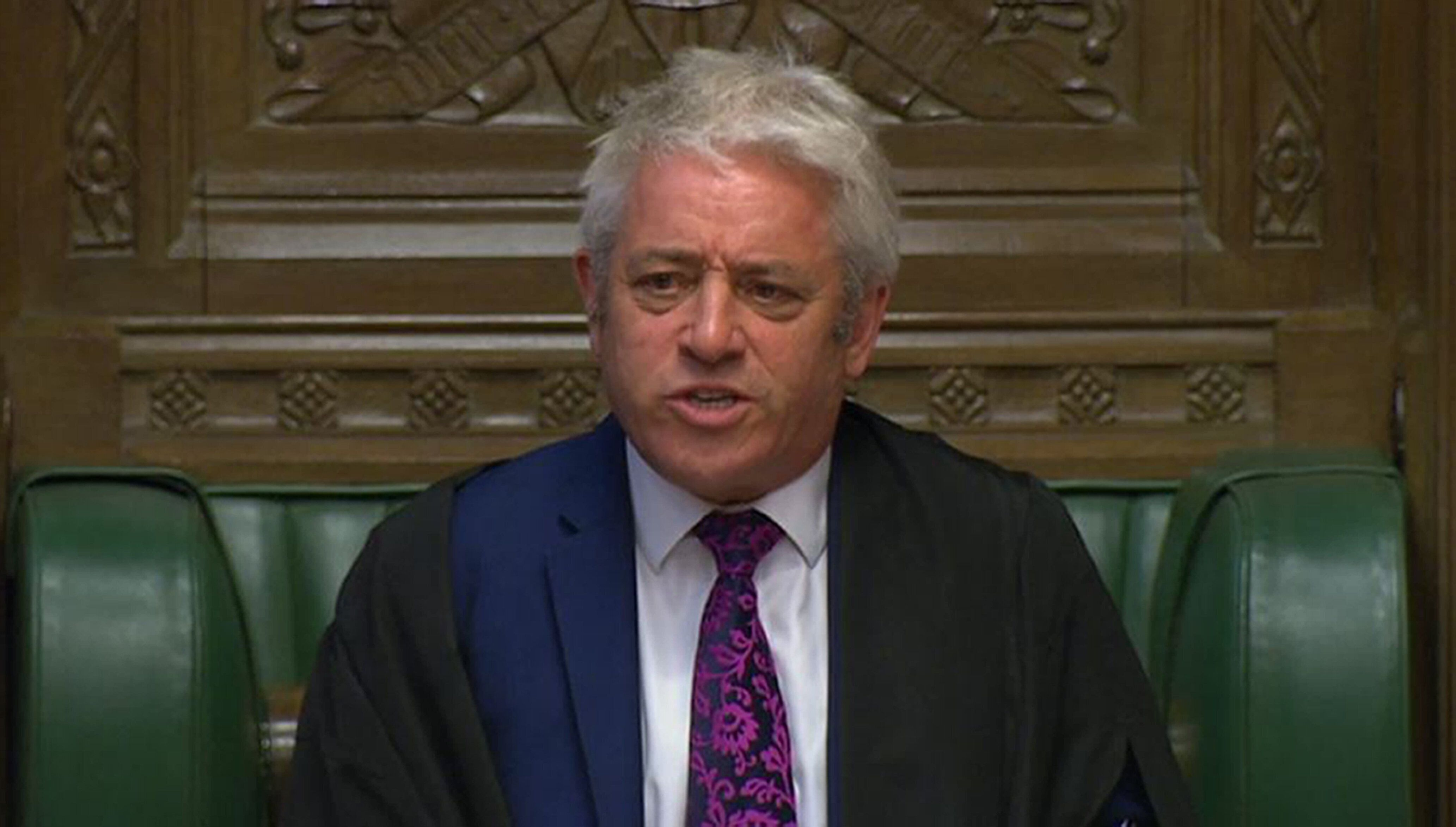 Speaker John Bercow speaks during Prime Minister Theresa May's last Prime Minister's Questions in the House of Commons, Londo