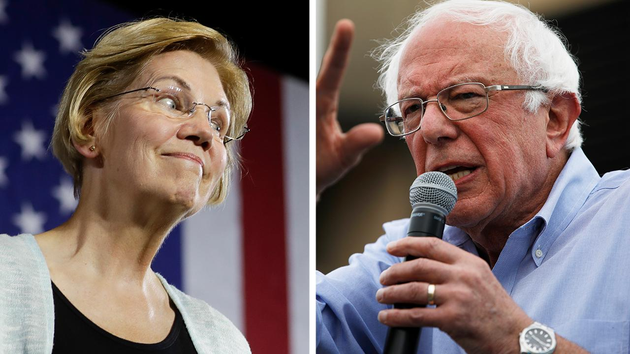 Sanders and Warren surge as Biden slips in the polls