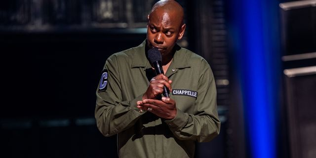 Dave Chappelle in his latest stand-up special 'Sticks & Stones.'