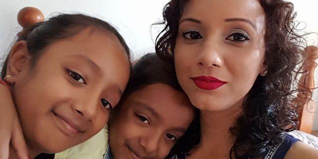 Nileshni Kajal, 34, with her daughters, Sana,11, and Samara, 8.