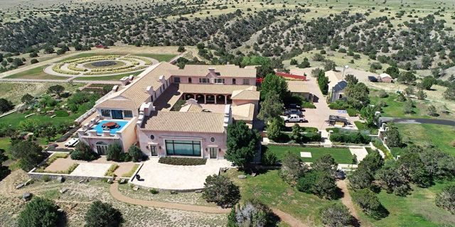 FILE PHOTO: Zorro Ranch, one of the properties of financier Jeffrey Epstein, is seen in an aerial view near Stanley, New Mexico, U.S., July 15, 2019. REUTERS/Drone Base/File Photo - RC1685DD11E0