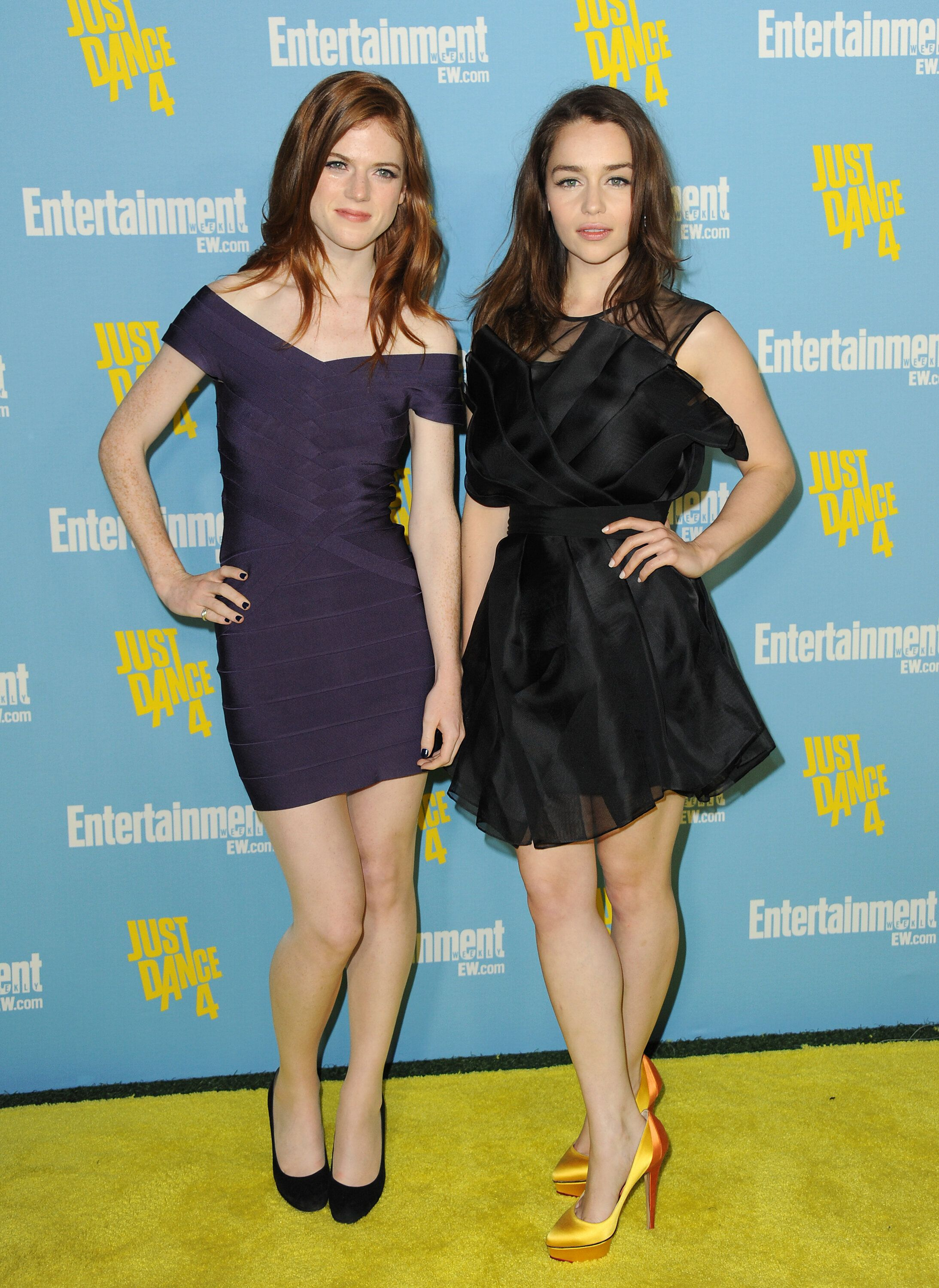 """Game of Thrones"" costars Rose Leslie, left, and Emilia Clarke, right, pictured in 2012 at Comic-Con in San Diego."