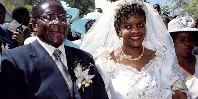 Robert and Grace Mugabe's extravagant wedding in 1996 came after they had an affair while both still married to other people.