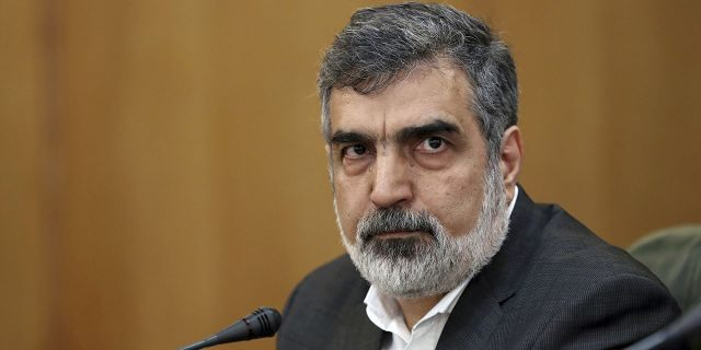 Behrouz Kamalvandi, spokesman for the Atomic Energy Organization of Iran, addresses reporters at a press briefing in Tehran, Iran, July 7, 2019. (Associated Press)
