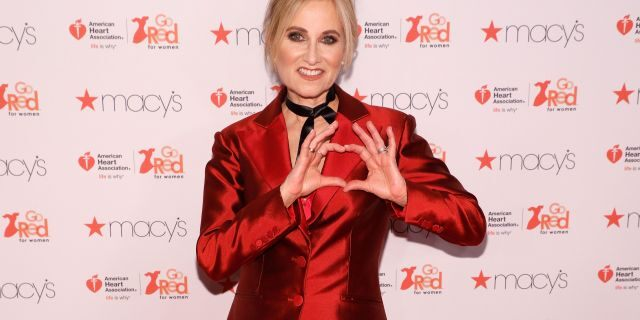 """Maureen McCormick attends the """"Go Red for Women"""" fashion show during Fall 2017 New York Fashion Week at Hammerstein Ballroom on February 9, 2017, in New York City. (Photo by Taylor Hill/FilmMagic)"""