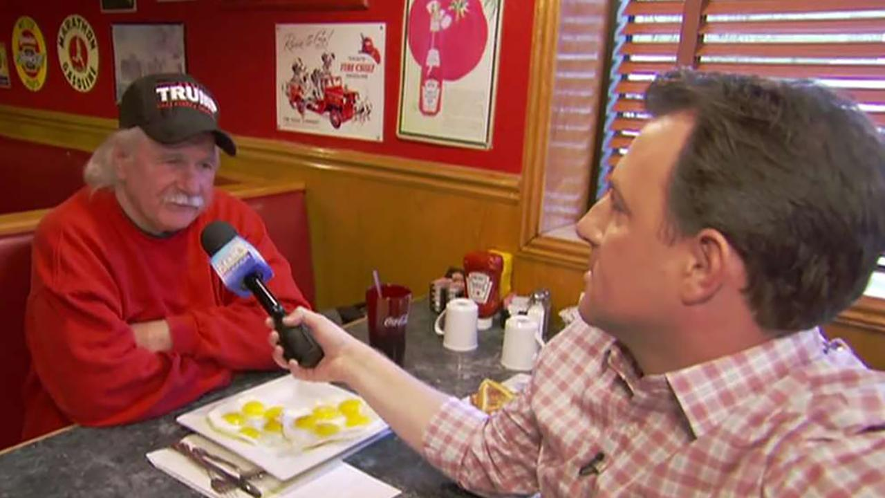 Todd Piro interviews man who orders ten-eggs breakfast meal
