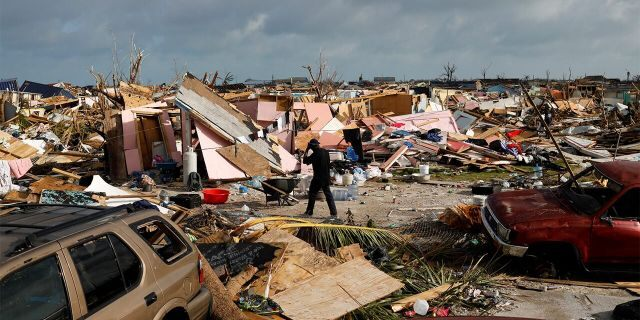The Mudd neighborhood on Friday after Hurricane Dorian slammed the Abaco Islands.