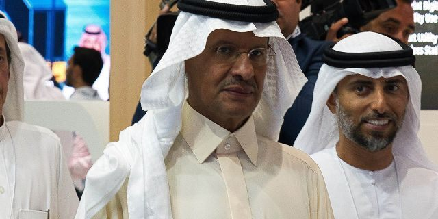 Prince Abdulaziz bin Salman, center,enters the job with a lifetime of experience in Saudi Arabia's energy sector and is seen as a safe and steady choice to lead the ministry, where he will oversee production of one of the world's largest oil exporters.(AP Photo/Jon Gambrell)