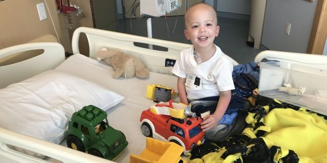 He was diagnosed in April 2018 after his daycare called to let Burge know he had a fever and needed to be picked up.