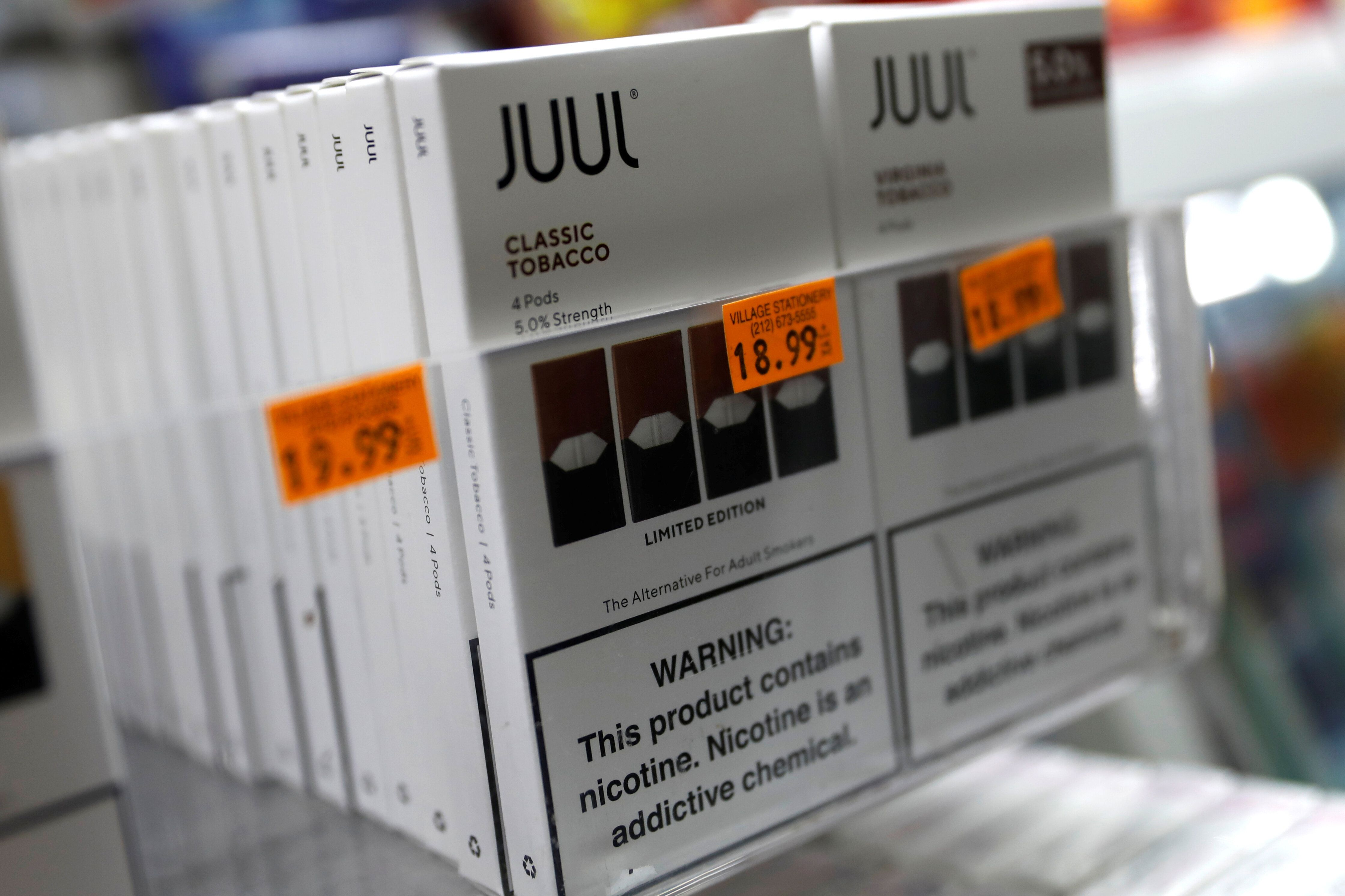 Vaping company Juul Inc. is accused of marketing its e-cigarette products as a safer alternative to smoking cigarettes withou