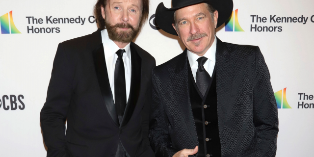 Ronnie Dunn, left, and Kix Brooks attend the 41st Annual Kennedy Center Honors in Washington. (Photo by Greg Allen/Invision/AP, File)