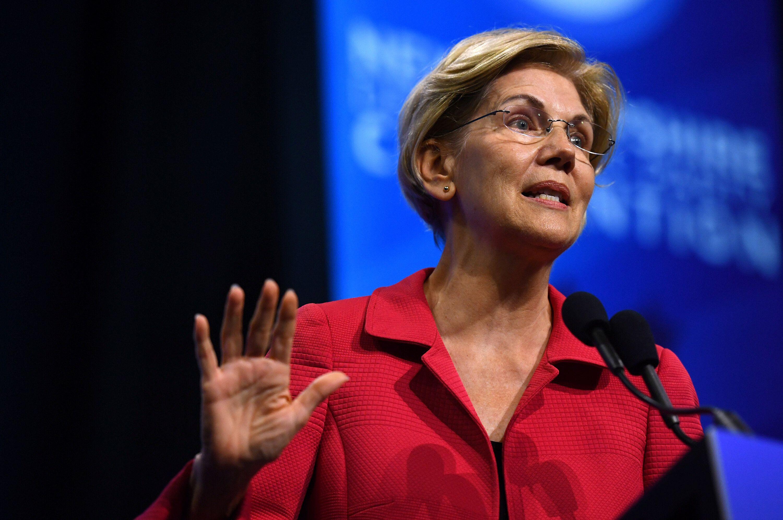 Sen. Elizabeth Warren of Massachusetts has endured some criticism from progressive activists skeptical of her commitment to M