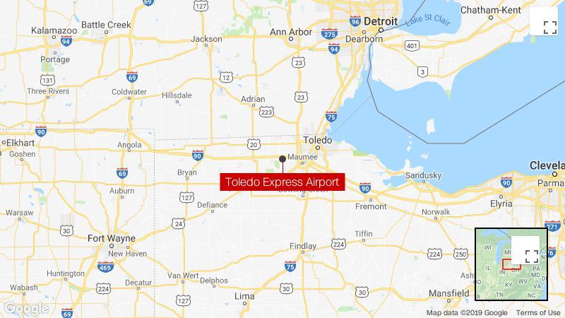 Cargo plane crashes near Toledo airport, erupting into