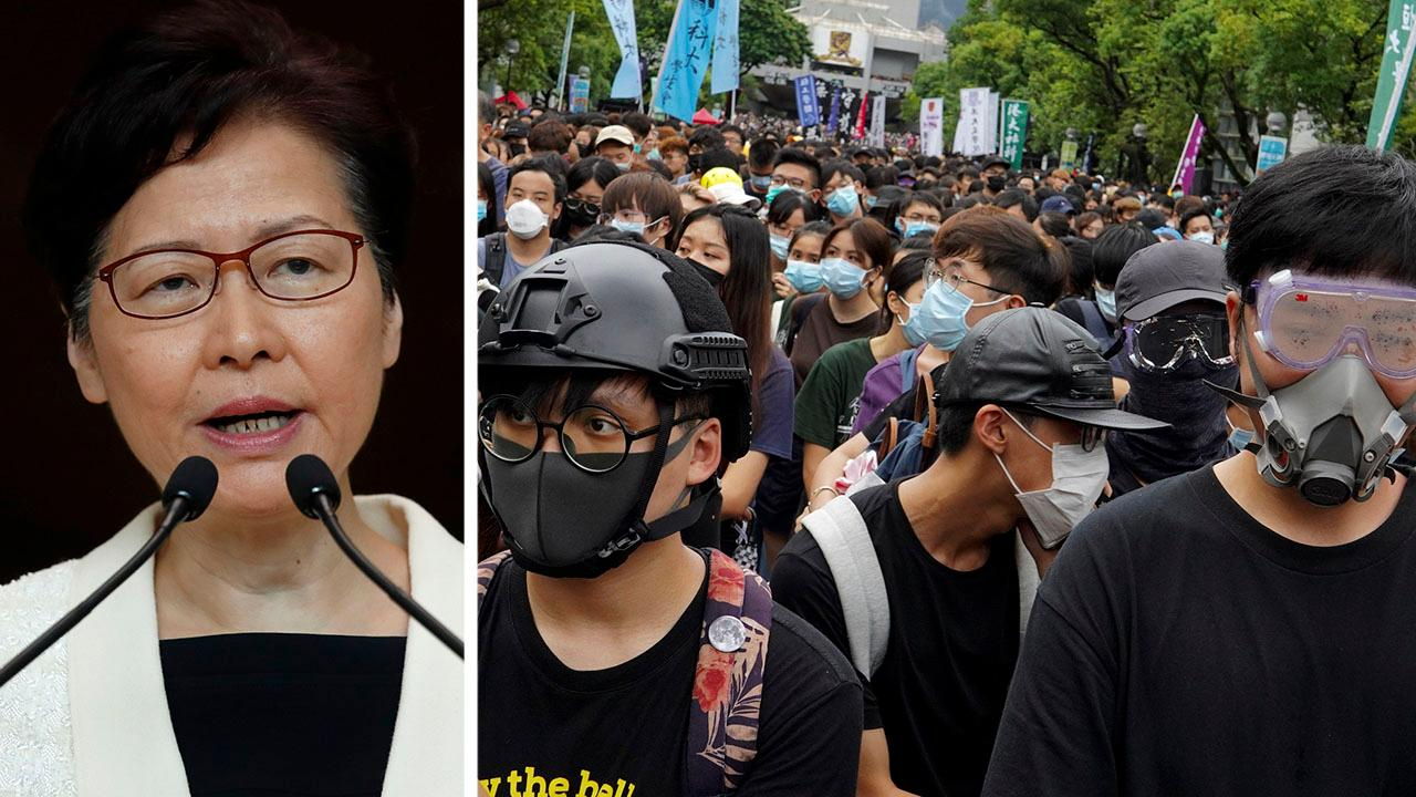 China's Chief Executive Carrie Lam says there are no plans to send the military to Hong Kong as protests continue