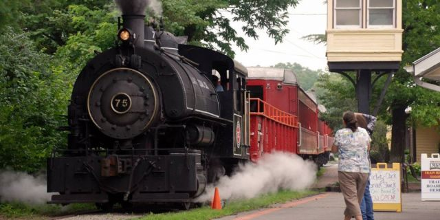 A local GOP group in Ohio has canceled a fundraiser featuring a 'Trump Train' ride, on the locomotive above. The railroad company has also disassociated itself from the event. (LM and M Railway)
