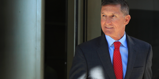 Former Trump national security adviser Michael Flynn leaves the federal courthouse in Washington on July 10, 2018. (AP Photo/Manuel Balce Ceneta, File)