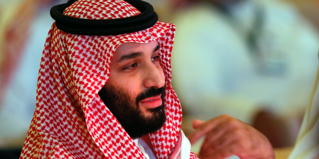 In this Oct. 24, 2018, file, photo, Saudi Crown Prince Mohammed bin Salman attends the second day of the Future Investment Initiative conference, in Riyadh, Saudi Arabia.